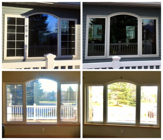 Kalispell, MT - We replaced 11 windows in aluminum siding on this home in Kalispell
