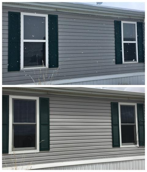 Gillette, WY - Replaced 2 vinyl windows with renewal by Andersen fibrex windows in Gillette. Customer was so happy with the Andersen experience that she ordered more windows!