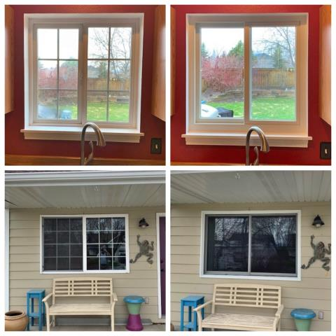 Bozeman, MT - We removed vinyl windows and replaced with Andersen fibrex gliders on this home in Bozeman.
