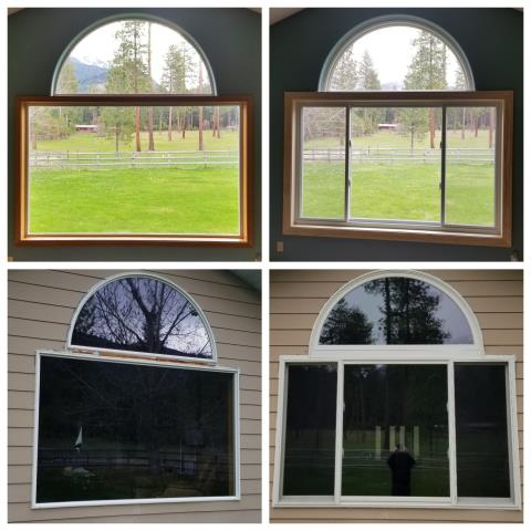 Ronan, MT - We replaced this old picture window with Renewal by Andersen Fibrex windows in Ronan