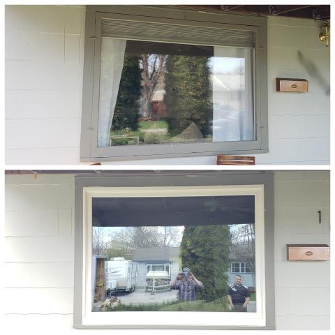 Billings, MT - We replaced this single pane picture window with a Renewal by Andersen fibrex window in Billings