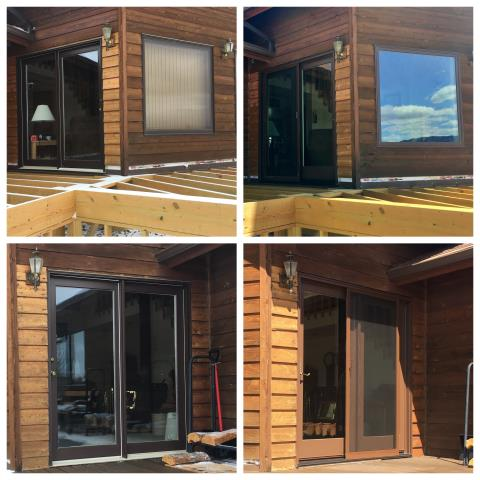 Cody, WY - We replaced several old windows and a couple patio doors on this home in Cody!