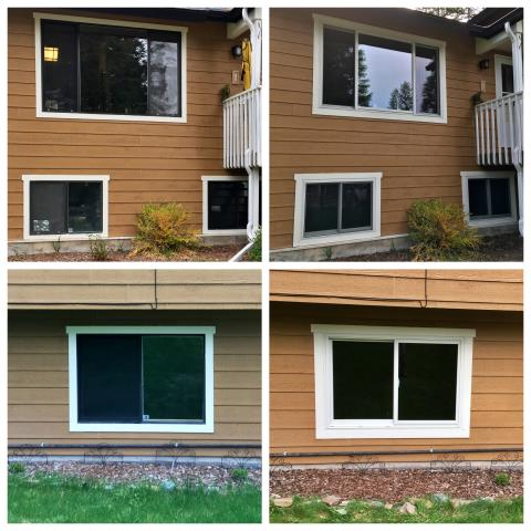 Whitefish, MT - We replaced 8 old windows with new Renewal by Andersen Fibrex windows on this home in Whitefish!