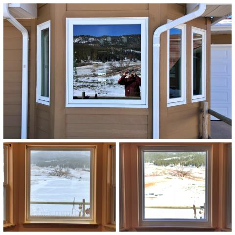 Sundance, WY - Our installers replaced old picture windows with new RBA Fibrex windows on this home in Sundance!