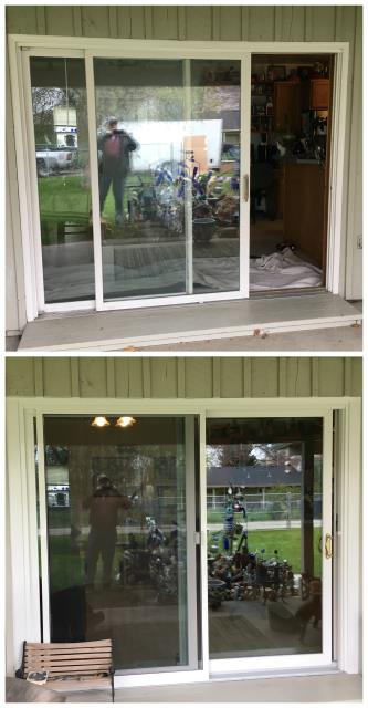 Billings, MT - Our installers replaced worn out sliders with a new Fibrex slider on this home in Billings