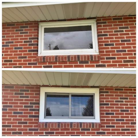 Great Falls, MT - Removed wood brick mold windows and replaced with Renewal by Andersen fibrex windows in Great Falls
