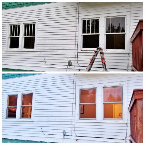Nemo, SD - Replaced original wood windows with new Renewal by Andersen double hung windows.