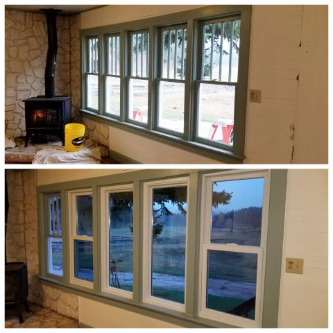 Nemo, SD - Replaced original wood windows with new Renewal by Andersen double hung windows in Nemo