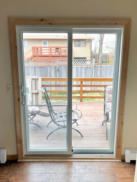 Gillette, WY - Here's a sliding patio door we replaced recently in Gillette.