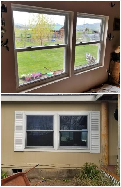 Arlee, MT - We replaced old vinyl windows with these RbA fibrex windows on this home in Arlee!