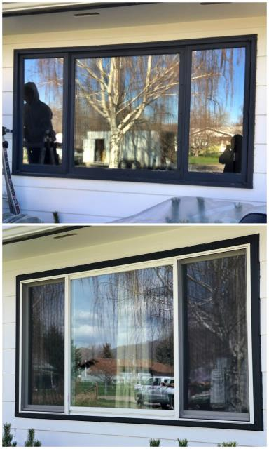 Helena, MT - We replaced 3 windows in Helena, MT. White windows with black brick mold really made the windows pop!