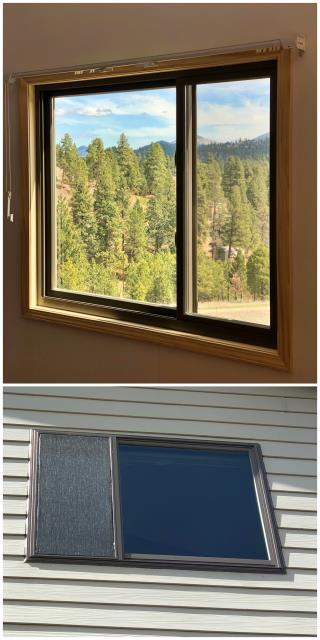 Clancy, MT - We updated this single window in Jefferson City. We were glad this returning customer was pleased enough with our product to have us come back, the terratone window looks fabulous.