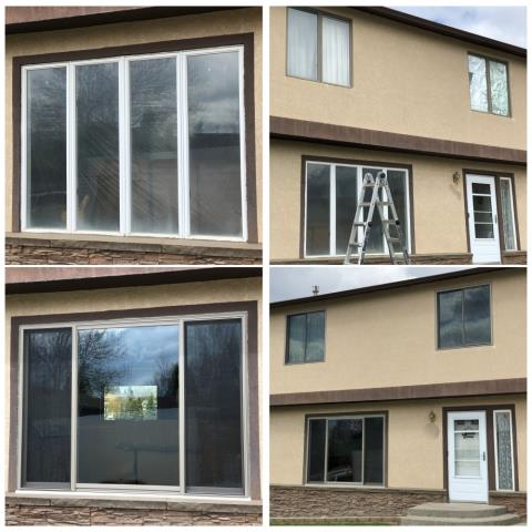 Great Falls, MT -  We replaced eight windows in Great Falls Montana in this stucco split level home, this homeowner was pleased to get rid of all the crank windows and replace with the best gliders on the market!