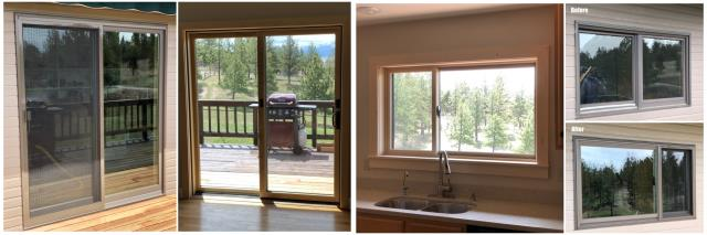 Helena, MT - We updated a kitchen window and a patio door in this beautiful home up in the mountains near Canyon ferry Dam in Helena. We replaced old Andersen Windows, the homeowners are very impressed with the quality of the new Renewal by Andersen Windows.