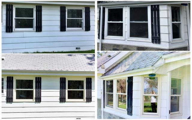 Hamilton, MT - We replaced 7 wood and vinyl windows with Fibrex Renewal by Andersen windows on this home in Hamilton!