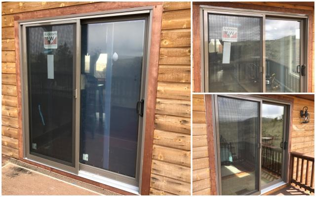 Granite, WY - Our installers replaced 3 worn out doors with new Andersen permashield gliding doors on this home in Granite Canyon!