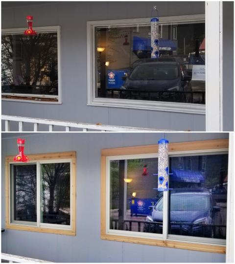 Missoula, MT - Our installers replaced retrofitted single pane glass with RbA fibrex windows on this home in Milltown.