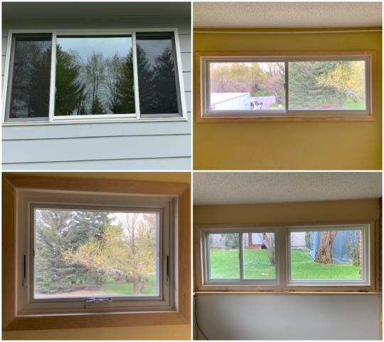 Bozeman, MT - Removed aluminum clad windows and replaced with Andersen fibrex windows on this home in Bozeman!