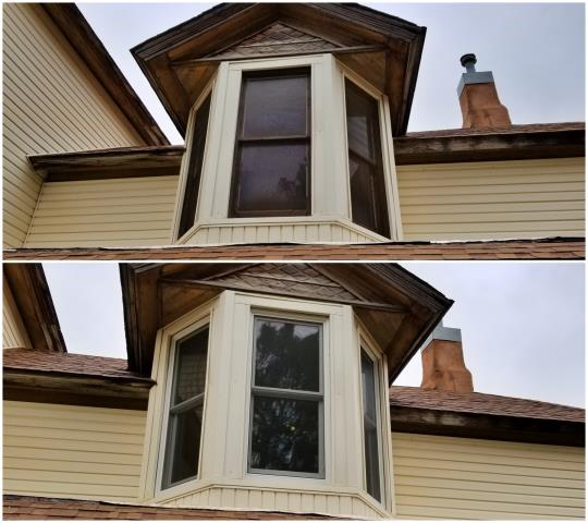Buffalo Gap, SD - Upgraded these old windows on this 1890 Victorian home with Renewal by Andersen double hung inserts in Buffalo Gap!