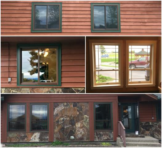 Kalispell, MT - This home in Kalispell got a facelift with new RbA Fibrex sliding and double hung windows.