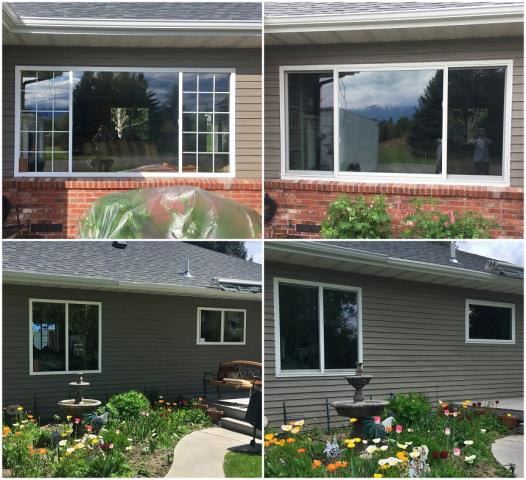 Kalispell, MT - We replaced old vinyl windows with new Renewal by Andersen Fibrex windows on this pretty home in Kalispell.
