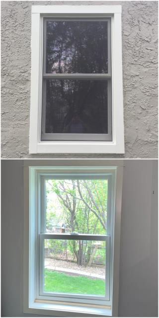 Helena, MT - We replaced a single double hung window on this home in downtown Helena.