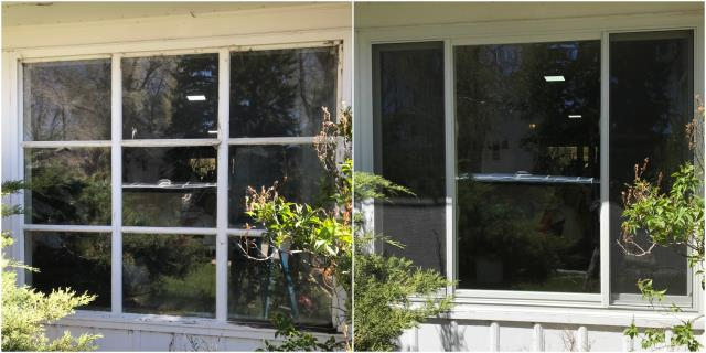 Laramie, WY - We replaced this old wooden window with a new Renewal by Andersen Fibrex window in Laramie!