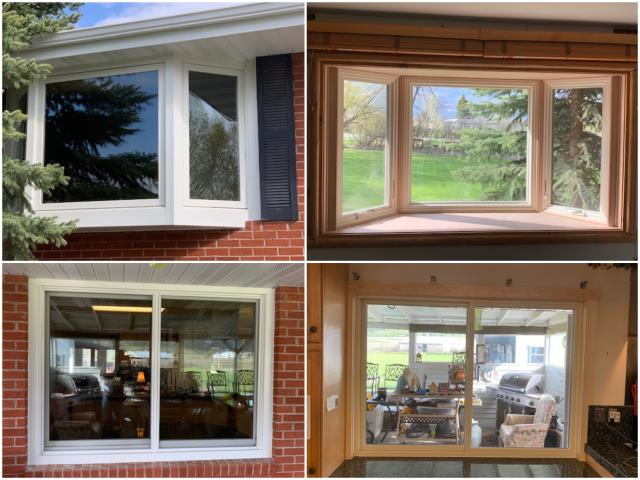 Bozeman, MT - This home in Bozeman had several windows and a patio door replaced with RbA Fibrex windows.