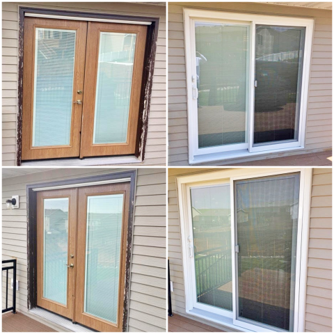 Gillette, WY - In this Gillette home, we replaced a French patio door with a new gliding patio door from Renewal by Andersen.