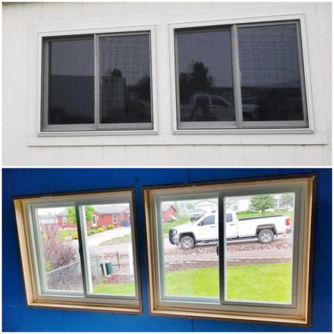 Missoula, MT - In this Missoula home, we replaced leaking vinyl windows with Renewal by Andersen Fiberex windows.