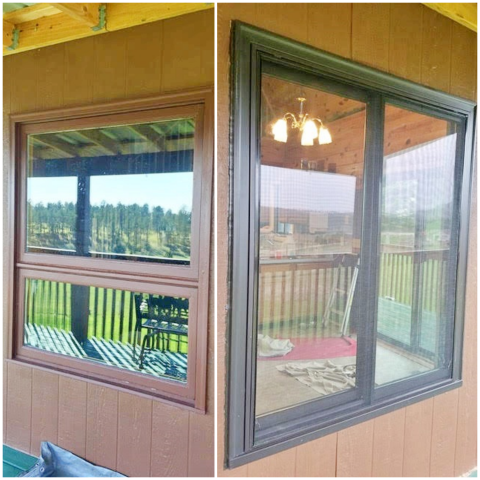 Custer, SD - In this Custer home, we replaced old wood clad windows with Renewal by Andersen Fibrex framed gliders.