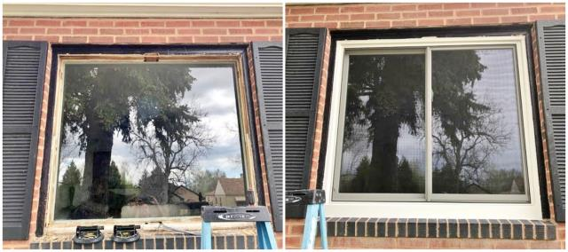 Cheyenne, WY - We replaced this old wooden window with a new Renewal by Andersen gliding window.  What a difference a new window can make!