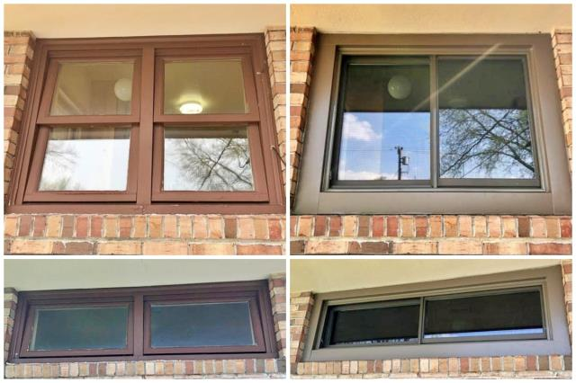 Sidney, NE - We replaced old wooden windows in this Sidney home with new Renewal by Andersen windows.