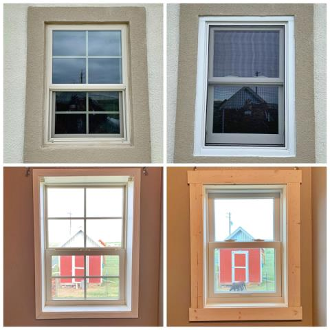 Evansville, WY - This Evansville home had an old window replaced with a Renewal by Andersen window.