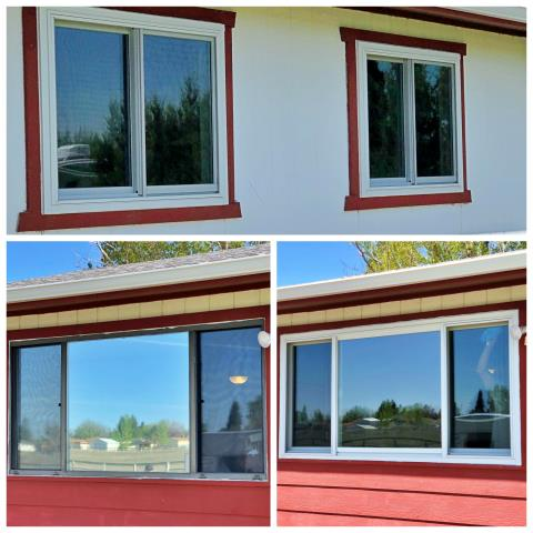 Great Falls, MT - This Great Falls home had three aluminum windows replaced with Renewal by Andersen efficient Fibrex gliders.