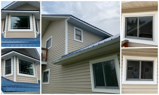 Deer Lodge, MT - In this Deer Lodge home, vinyl windows were removed and replaced with Renewal by Andersen Fibrex windows.