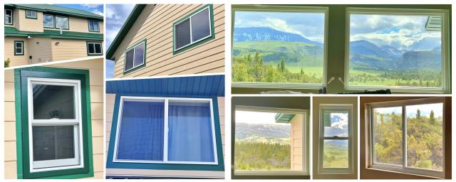 Choteau, MT - Fourteen windows were replaced in this Choteau home at the base of the Bob Marshall Wilderness.  As if that view could get any better, these windows will definitely enhance the clarity and efficiency!