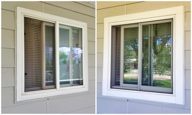 Rapid City, SD - These vinyl windows were replaced with our Renewal by Andersen custom replacement window.