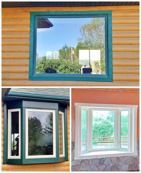 Cody, WY - This Cody home swapped an aluminum picture window for a beautiful new Renewal by Andersen bay with casements and picture window.