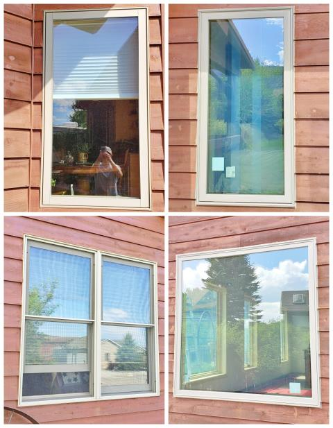 Cody, WY - This Cody home gets their window replacement job started off by removing wood casement and double casement windows, and replacing them with Renewal by Andersen Fibrex casements and picture windows.