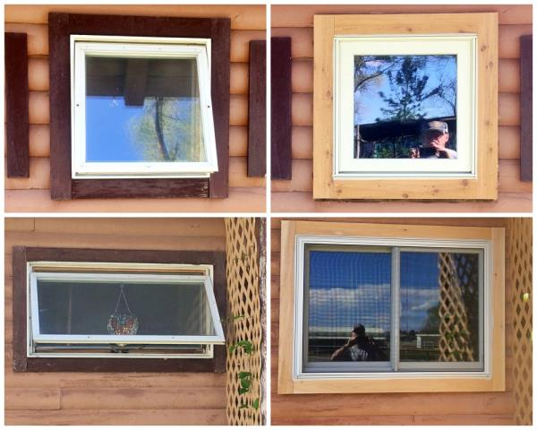 Powell, WY - In this Powell home, we removed the older windows and installed new Renewal by Andersen windows.  We even increased the bedroom windows in size!