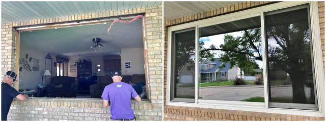Sidney, NE - Our installers replaced a rotten wood window with a new Renewal by Andersen Fibrex window.