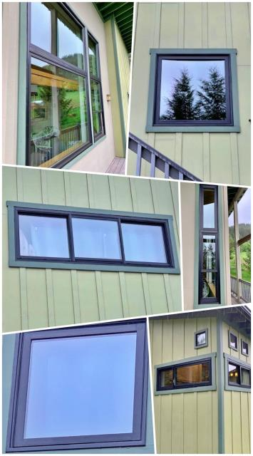 Bozeman, MT - This Bozeman home replaced their old aluminum windows with these beautiful Renewal by Andersen Fibrex windows!