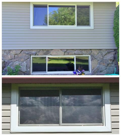 Kalispell, MT - This Kalispell home upgraded their efficiency and curb appeal with these new Renewal by Andersen windows.