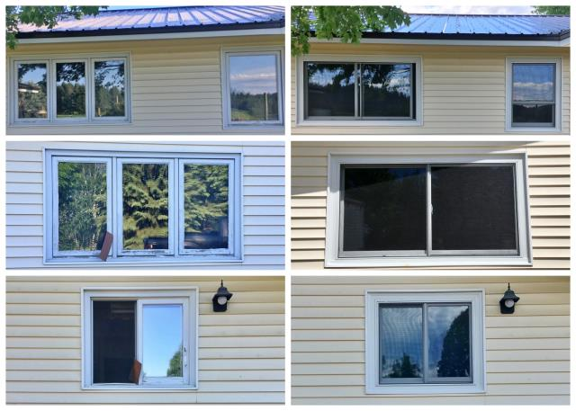 Bigfork, MT - Wow!  What a difference a window can make!  This Bigfork home received a major face-lift when they upgraded their old wooden windows to new Renewal by Andersen Fibrex windows.
