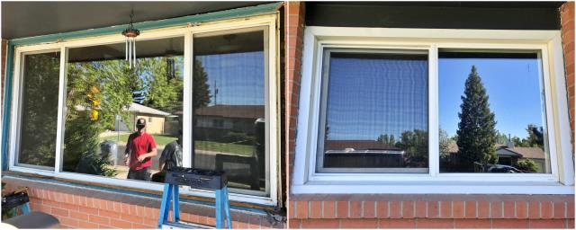 Cheyenne, WY - This Cheyenne home replaced their old windows with new Renewal by Andersen gliders.