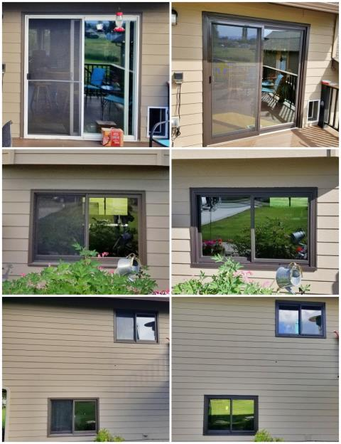 Florence, MT - This Florence home upgraded their windows and patio door to new Renewal by Andersen windows and door.