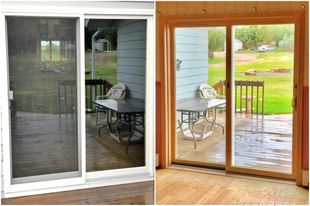 Great Falls, MT - This new Renewal by Andersen Narroline patio door we installed gives a more enhanced view in this country home outside of Great Falls.