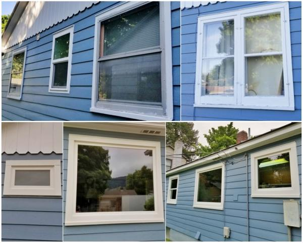 Missoula, MT - This Missoula home upgraded their old wooden windows to new Renewal by Andersen Fibrex windows.