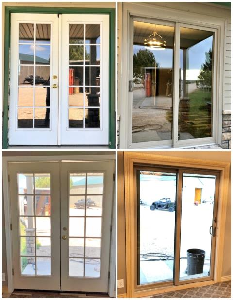 Casper, WY - This Casper home replaced their old french door with a new Renewal by Andersen slider.  Check out the clarity of the glass!  What a nice, polished finish!